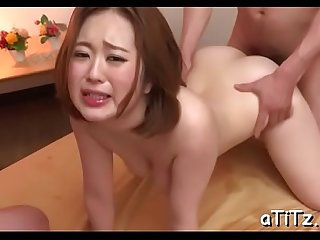 Wild cowgirl riding from breasty oriental