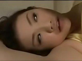 Cute japanese girl get sucked during sleep