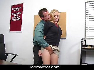 InnocentHigh Tracy Sweet blonde school girl teen hardcore prof sex