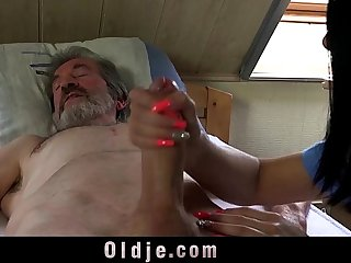 Sexual young care for a poor old man