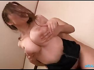Office Lady With Huge Tits Sucking Cocks Fucked By 2 Guys In The Empty Room