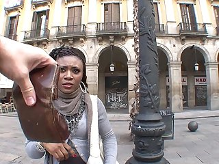 Illegal african immigrant girl fucks for money