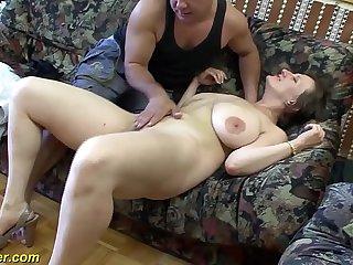 busty german Milf enjoys a big dick in her ass