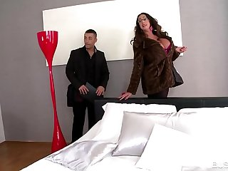 Busty Big Ass Nympho Emma Butt Gets Her Big Tits Fucked Hard By Two Studs