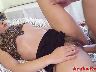 Arabic muslim spoons during sex before facial