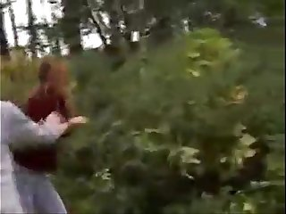 girl forced in the woods