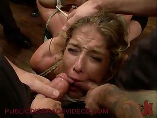Bound in public groped and fucked