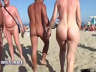 public beach cap agde by naomi slut