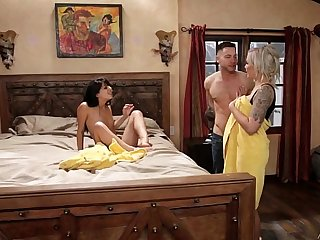 Mom and adopted daughter caught on - Nina Elle, Gina Valentina