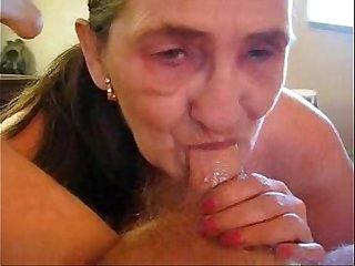 Old whore eats my cum. Amateur older