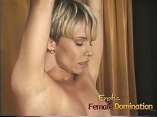 Blonde slave with a hot body dominated by a kinky milf-6