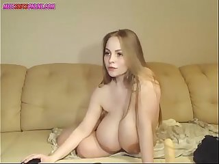 Camgirl with massive breasts