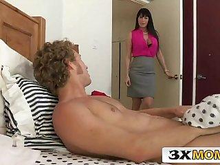 Horny Big Tit MILF and Teen Stepdaughter Fuck a Guy - Eva Karera, Heather Night