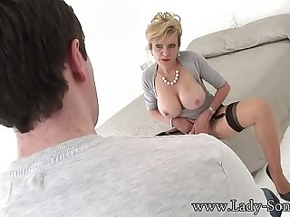 Lady-Sonia Stripping For The Young Man