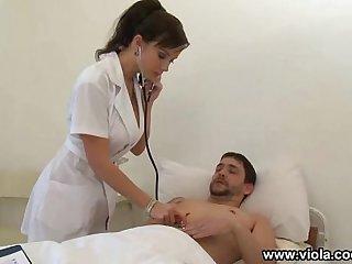 Nurse Takes Care Of 2 Patients