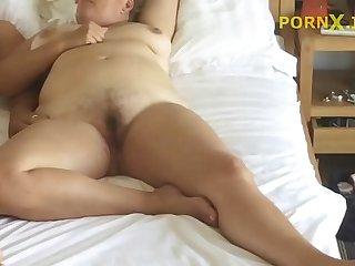 Son fucking his mom - Hidden Cam in mommys room