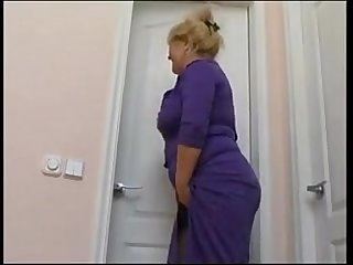 plump mom with saggy tits and guy